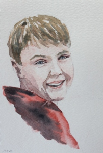 Ted watercolour sketch