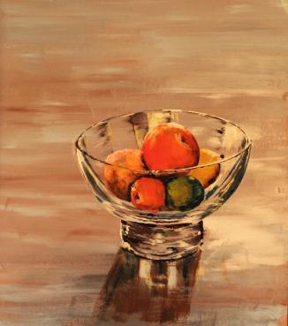 Fruit bowl acrylic
